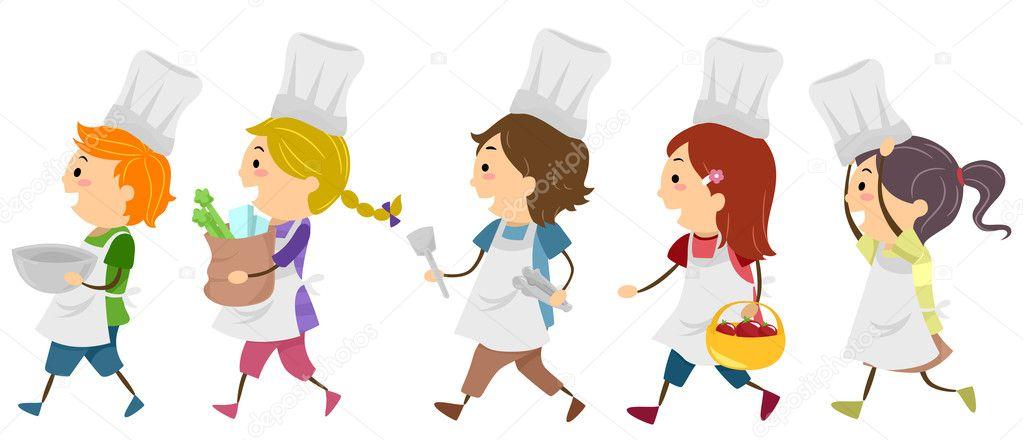 Gotowanie Dzieci Zdjęcie Stockowe Lenmdp 11570411