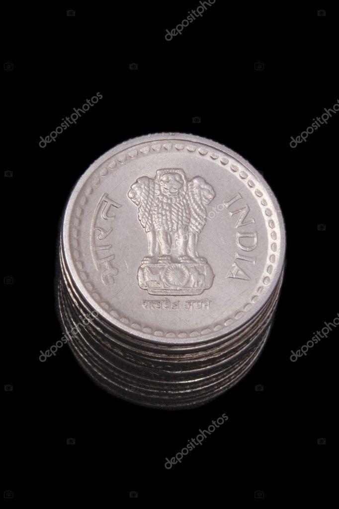Indische Münzen Stockfoto Yellowcrest 11574716