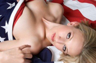Flag Woman stock vector