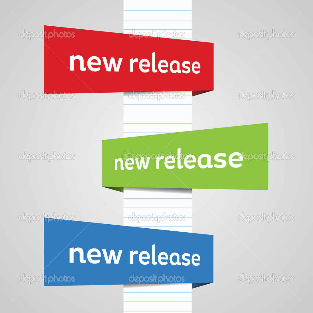 side perspective new release banners — stock vector © justinkendra