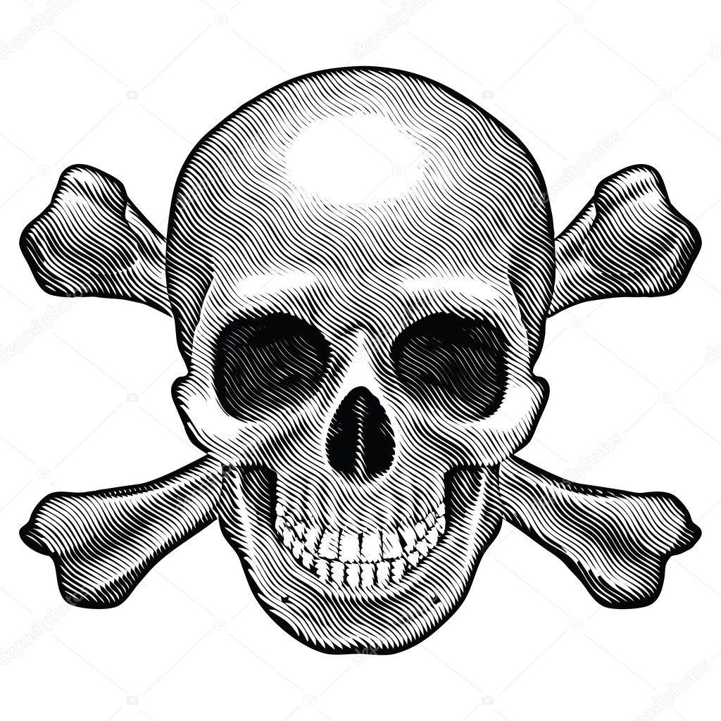 Skull and crossbones figure