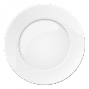Empty white plate. Illustration on white background stock vector