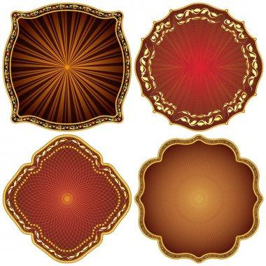 Ornate decorative golden frames.