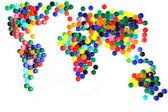 Világ-Térkép, a műanyag kupakok