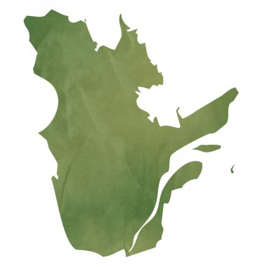 Quebec map on green paper