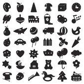 černé siluety hračky