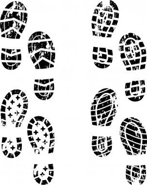 Grunge shoe print