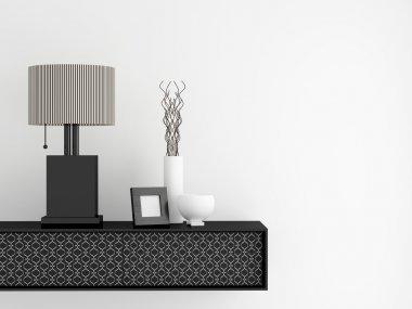 Modern living room furniture. Interior design.