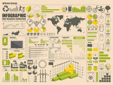 Vector set of info graphics clip art vector