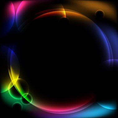 Abstract circular design background