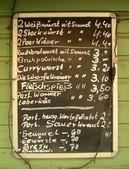 Fényképek Német menü tábla