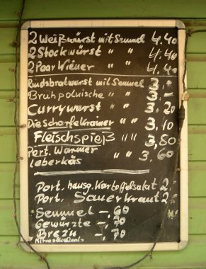 German Menu Board