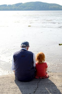 Girl With Her Granddad