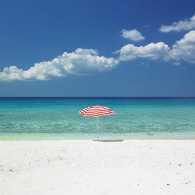 Sunshade, Maria la Gorda Beach, Pinar del Rio Province, Cuba