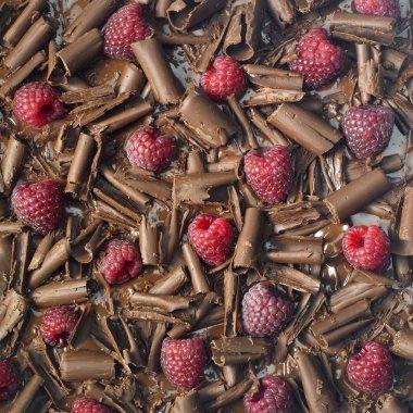 Raspberries with chocolate
