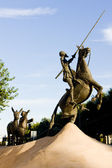 Fotografie Statue von Don Quijote, Campo de Criptana, Kastilien-La Mancha, Spa