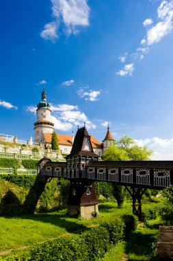 Castle of Nove Mesto nad Metuji with covered wooden bridge by Du