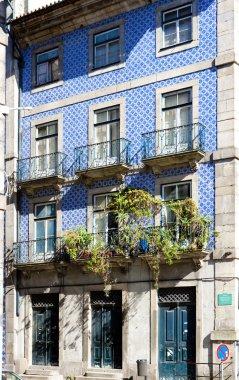 House with azulejos (tiles), Porto, Douro Province, Portugal