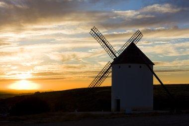 Windmill at sunset, Campo de Criptana, Castile-La Mancha, Spain