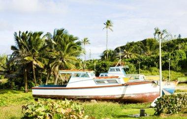 Fishing boats, Skeete's Bay, Barbados