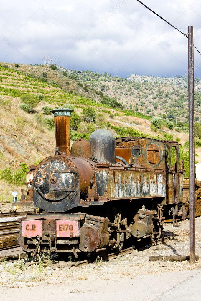 Old locomotive in Tua, Douro Valley, Portugal