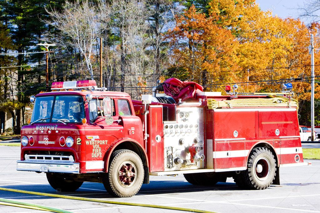 Fire engine, Wiscasset, Maine, USA