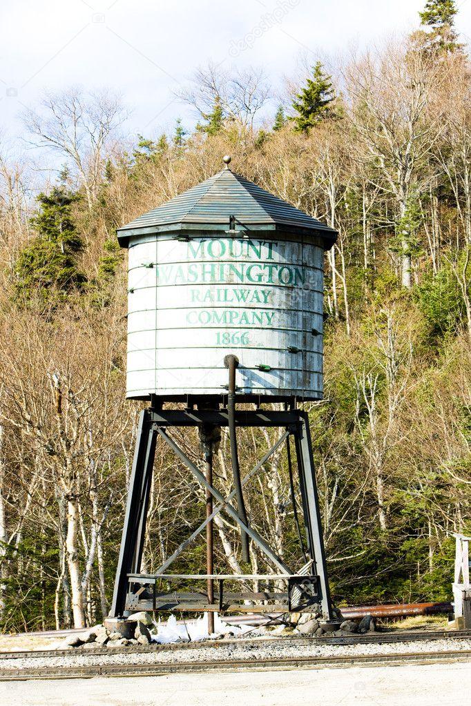 Water tank, Mount Washington Cog Railway, Bretton Woods, New Ham