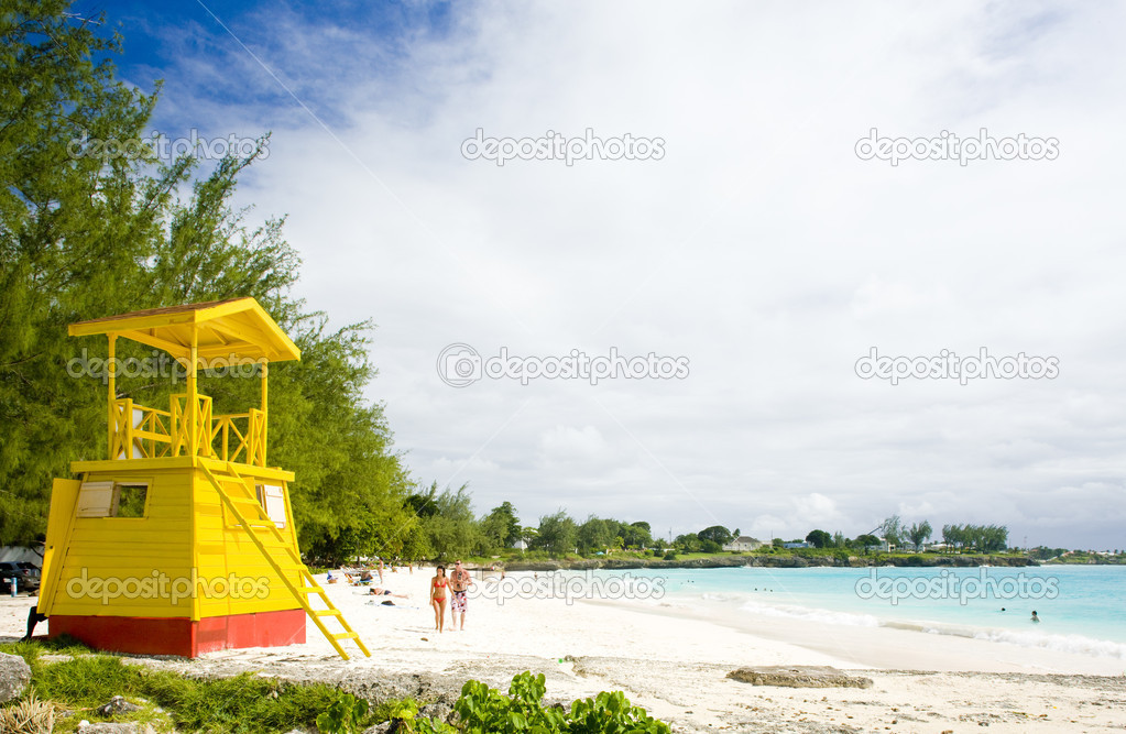 Фотообои Cabin on the beach, Enterprise Beach, Barbados, Caribbean