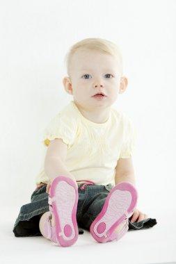 Sitting toddler
