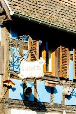 Detail of house in Kintzheim, Alsace, France
