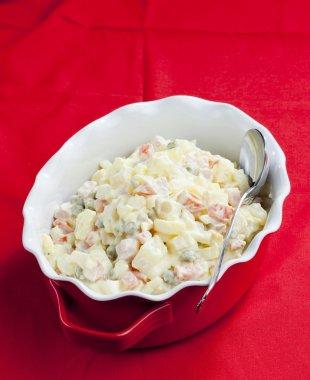 Traditional Czech Christmas potato salad