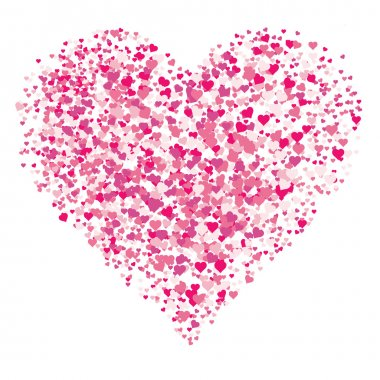 Vector Heart Background. Easy to edit. Perfect for backgrounds. clip art vector