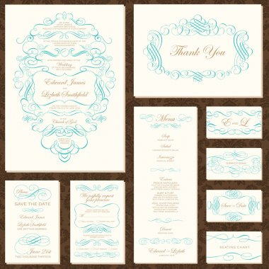 Vector Decorative Frame and Ornament Set