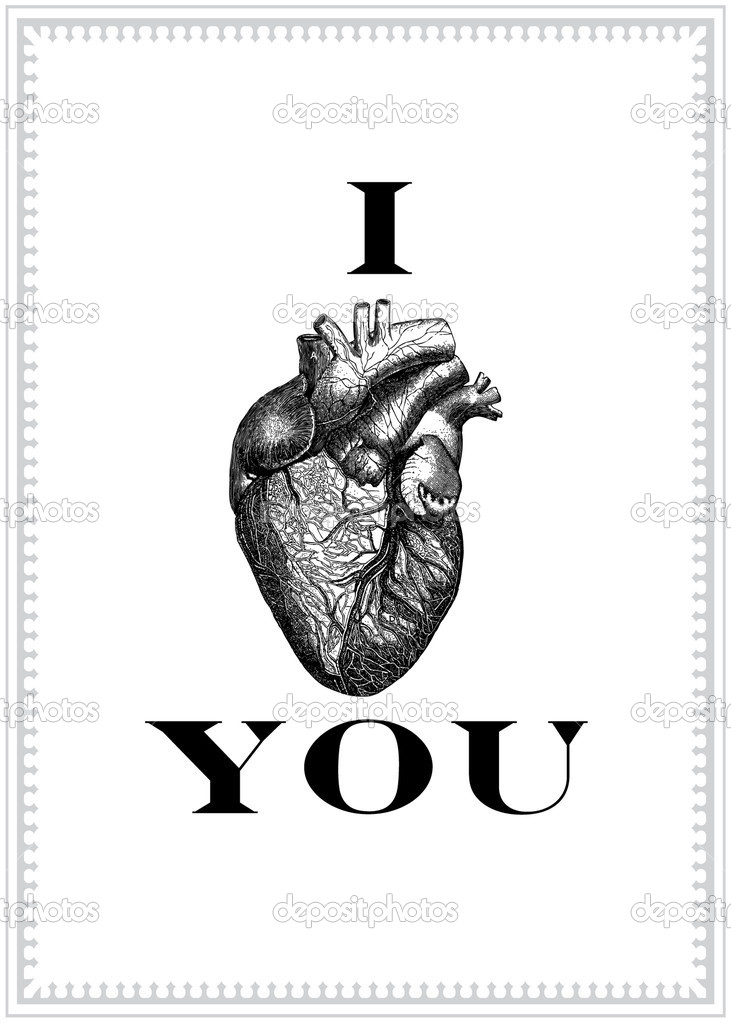 Vector I Love You Graphic