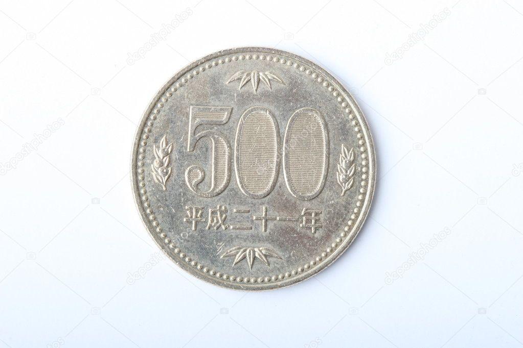 500 Japanische Münze Stockfoto Zhiqianghu 10759793