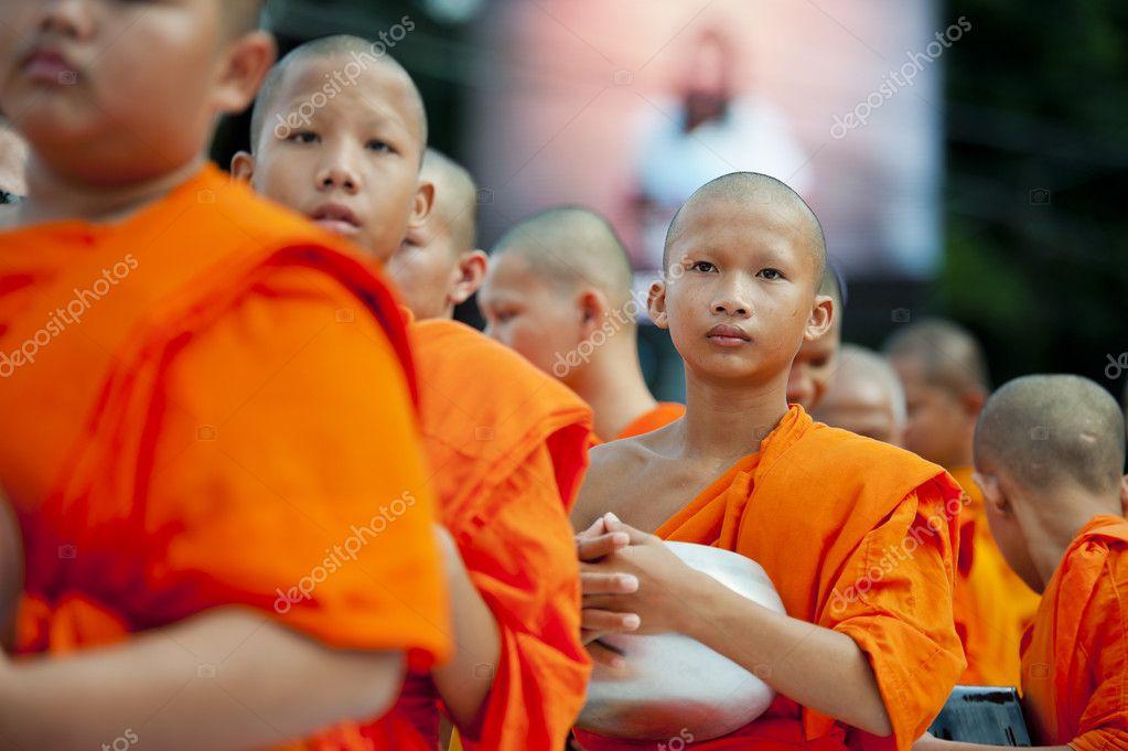 Alms-giving ceremony in Bangkok