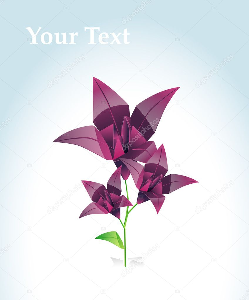 Origami Flower Stock Vector Niki2die4 11471236