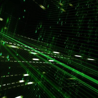 Abstract green matrix background