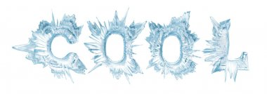 Cool. Ice crystal letters