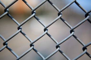 Chain link fence up close