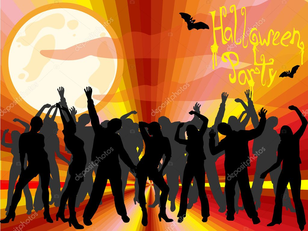 Halloween party — Stock Vector © andreakaulitzki #11703953