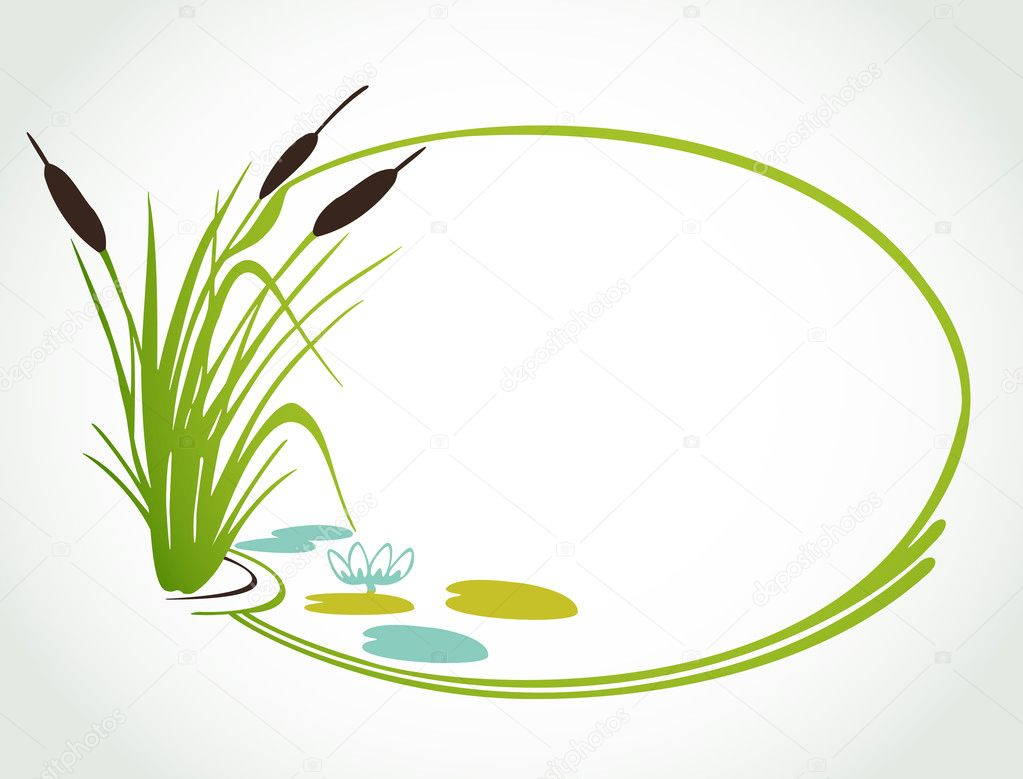 Background with cane. Vector ilustration