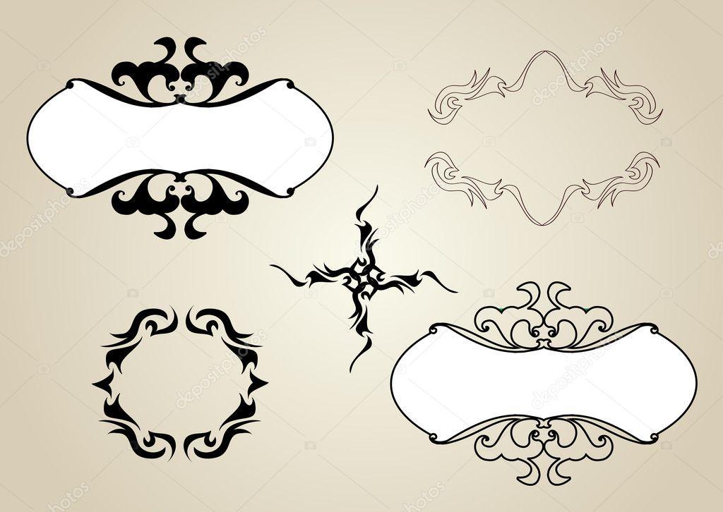 Marcos ornamentales y diseño de cartel. conjunto de vectores ...