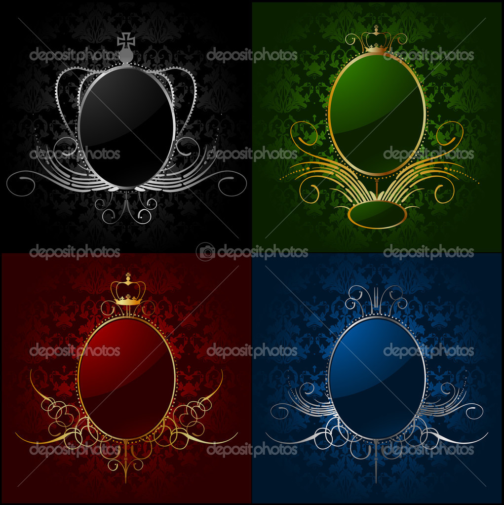 Set royal backgrounds with frame. Vector