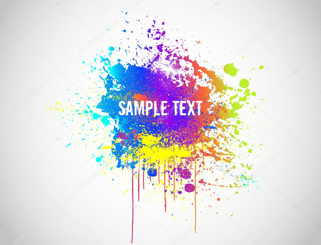 Abstract Paint Splash Background. Vector illustration