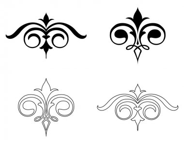 Set Elegance Elements. Vector