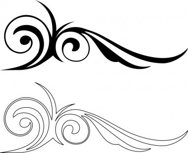 Two Elegance Elements. Vector illustration