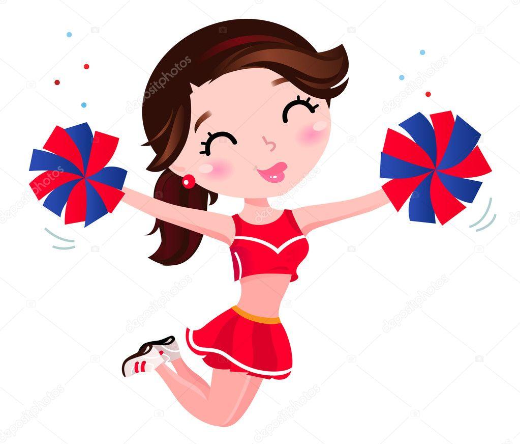Znalezione obrazy dla zapytania cheerleaderki ilustracja