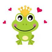 Fotografie Princ kreslený žába izolovaných na bílém