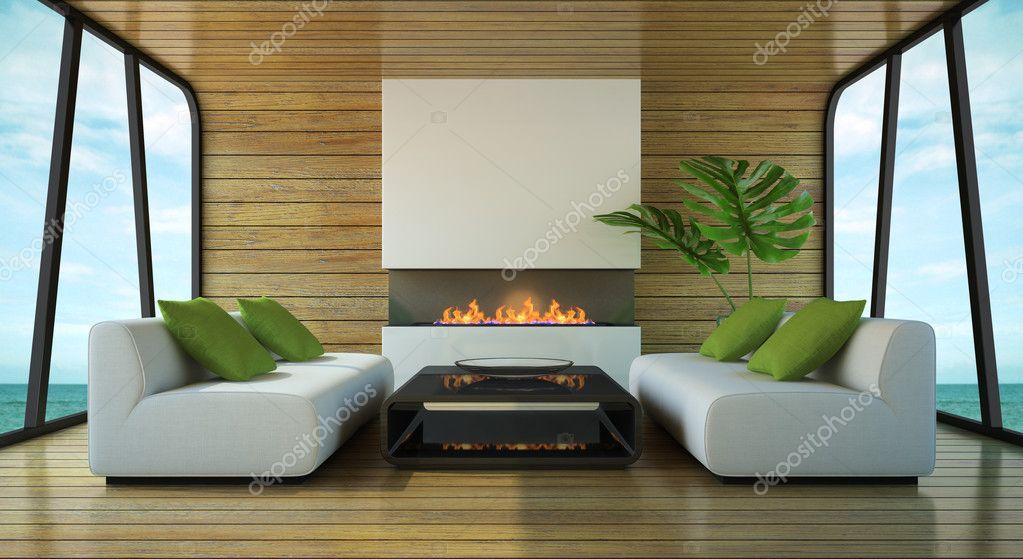 Arredamento Moderno Casa : Arredamento moderno della casa al mare u foto stock hemul